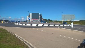The new roundabout at Humberside Airport